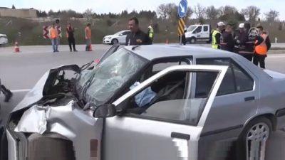 Kırklareli'nde trafik kazası: 1 ölü, 1 yaralı